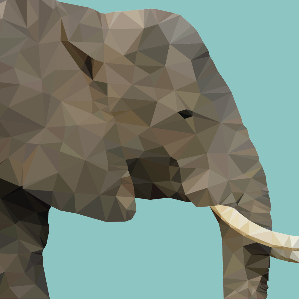 Hohe Tiere (ein Elefant)
